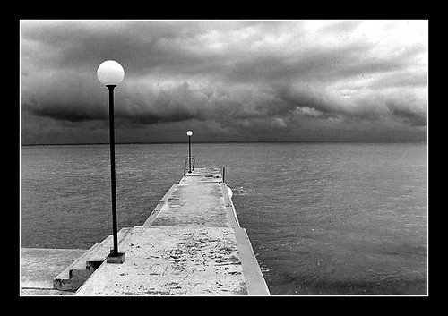 Storm view - Montego Bay dock 1996 by gnawledge wurker