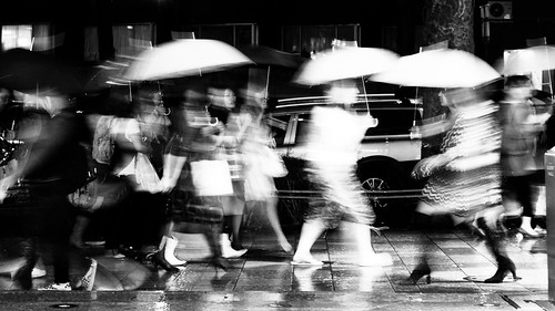 It was dark and raining, so everything is a little bit blurred...