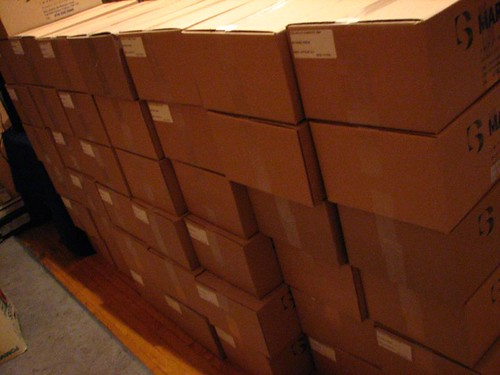 and more boxes of books