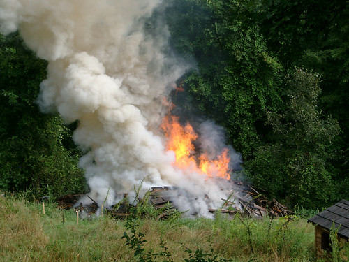 Barn Fire Flames