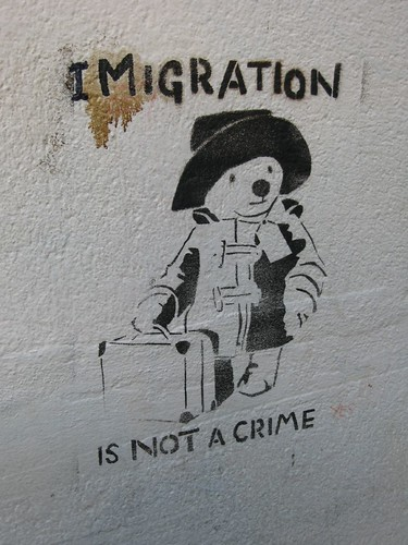 Stencil graffiti @ Glastonbury