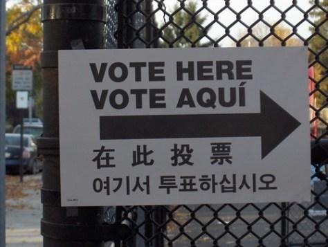-> Vote Here Vote Aquí ->