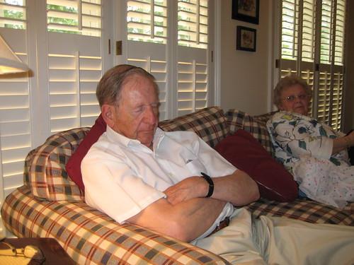 Grandpa asleep