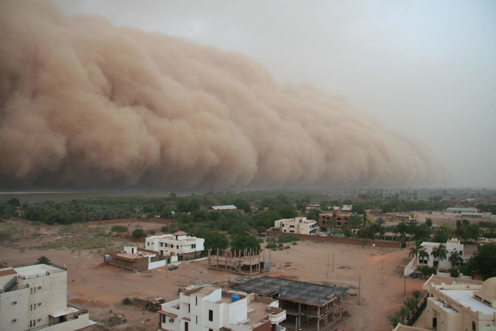 Haboob over the Nile