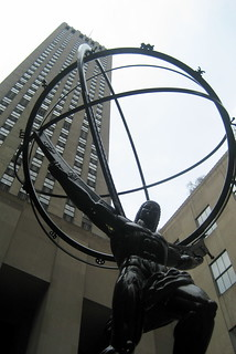 NYC - Rockefeller Center: Atlas and GE Building