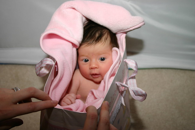 Baby In Shopping Bag