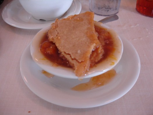 Georgia Peach Cobbler at Mary Mac's Tea Room in Atlanta GA