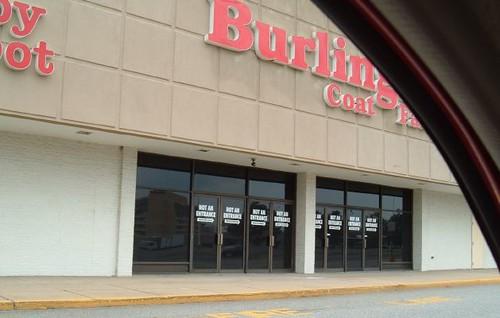 Fake Burlington Coat Factory Entrance (former Wards 1985-2001)