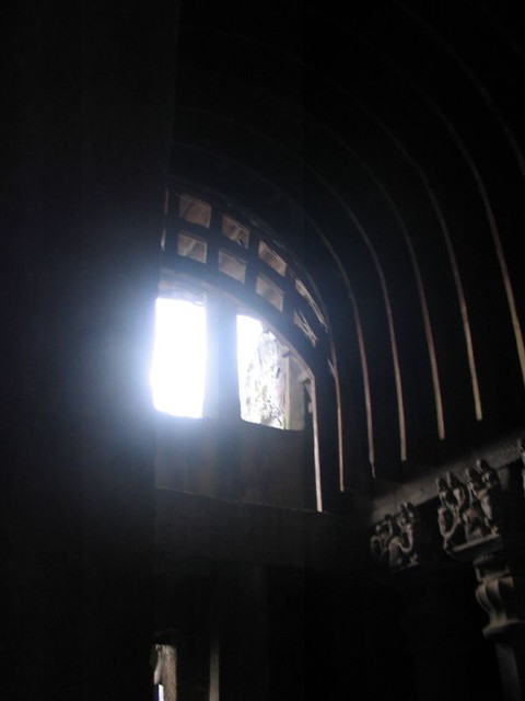 The roof of the chaitya hall