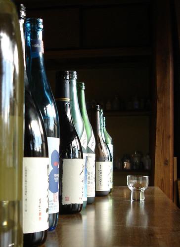 sake bottles by tangerinee