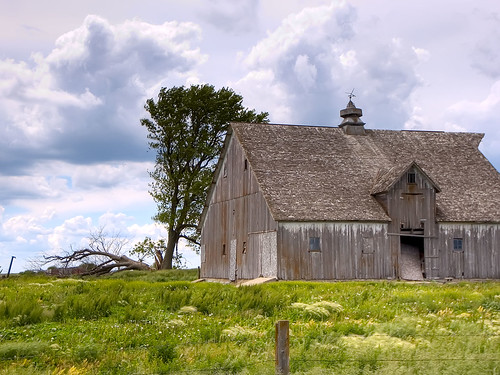 clouds and barn (hdr)
