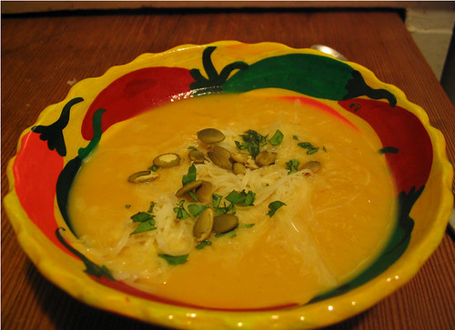 Roasted Three Pepper Golden Nugget Squash Soup!
