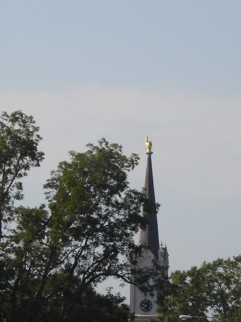 First Presbyterian Church - Gold Hand Pointing Toward Heaven - Port Gibson MS