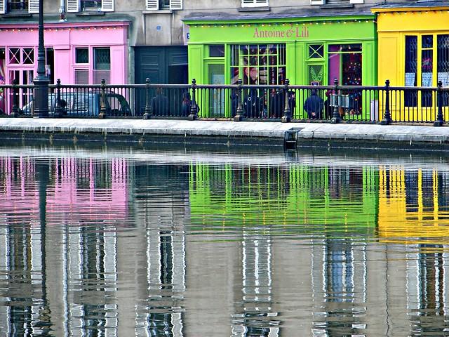 Strolling along canal St Martin, Paris