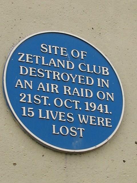 Zetland Club Redcar Plaque