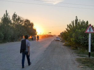 Attempted a 200k day to get to Khiva through the desert, and failed, about 140km in, as the sun went down. Good day though!