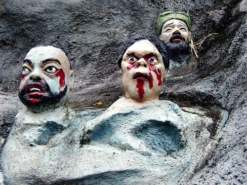 Sufferers in Buddhist Hell, Haw Par Villa (Tiger Balm Theme Park), Singapore