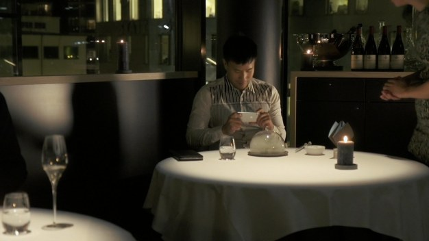 Perm hops from city to city just to dine at the finest restaurants. (Credit: Fortissmo Films)