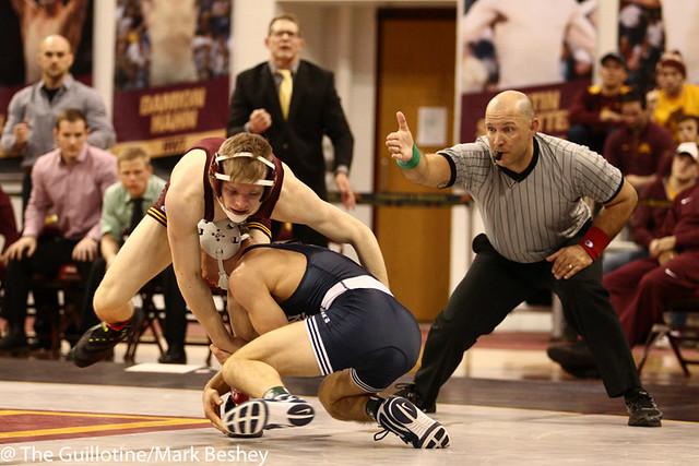 125 #3 Nick Suriano (Penn State) dec. #6 Ethan Lizak (Minnesota) 8-6