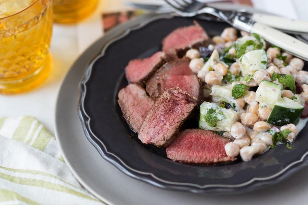 Terra's Kitchen Seared Lamb with chickpea salad #arecipeforreallife #ad