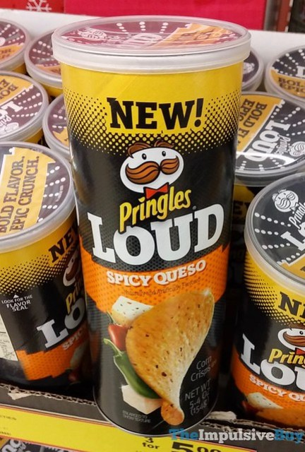 Pringles LOUD Spicy Queso Corn Crisps