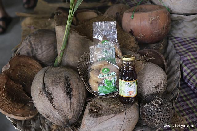 Baanrimklong Homestay,椰糖製作,沙慕頌堪,泰國,泰式傳統點心,農家體驗 @VIVIYU小世界