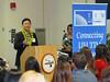 Keynote speaker Paul Yokota, president of FCH Enterprises, Inc., addresses the School of Travel Industry Management's fall class of 2016. Photo by Clinton K. Inouye.