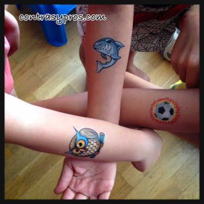 Tatuajes temporales para niños de Tattootatu