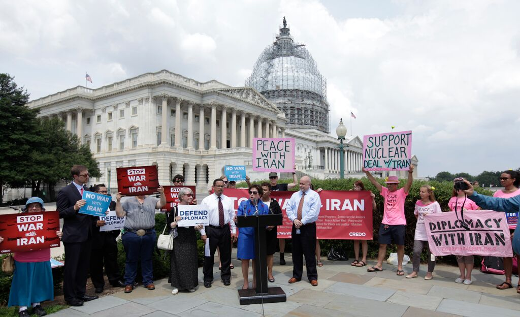 7.29.15 Iran Deal Petition Delivery