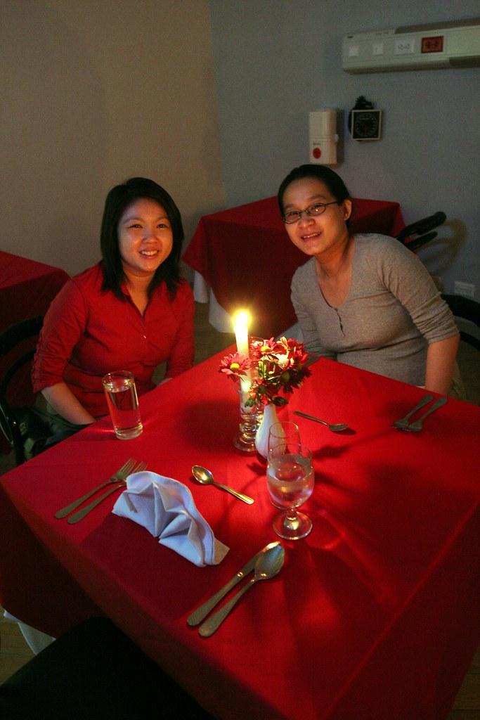 The candelight dinner