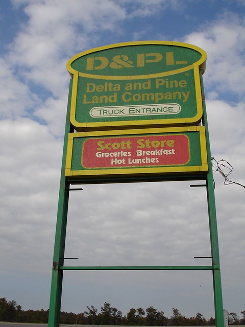D&PL (Delta & Pine Land) Sign, Scott MS
