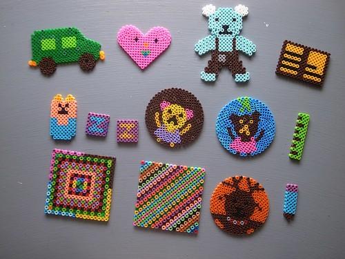 【玩具】回味小時候的玩具:再度拼拼豆豆(10.9ys)