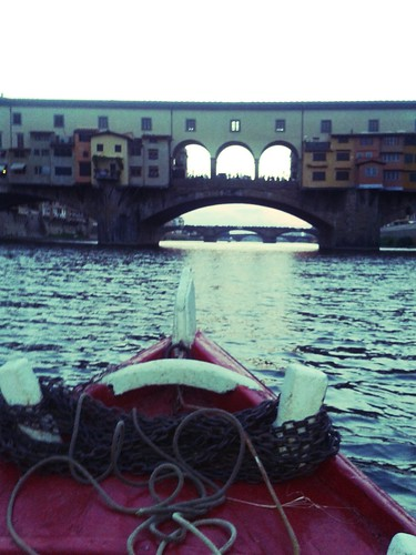 boat tour on the Arno