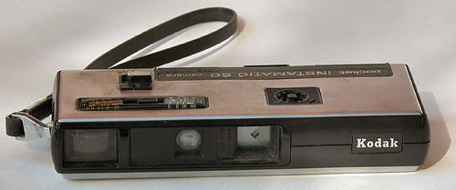 Kodak Pocket Instamatic 50 (110 film format) front view by gnawledge wurker