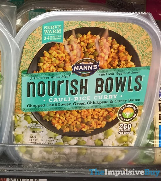 Mann's Cauli-Rice Curry Nourish Bowls