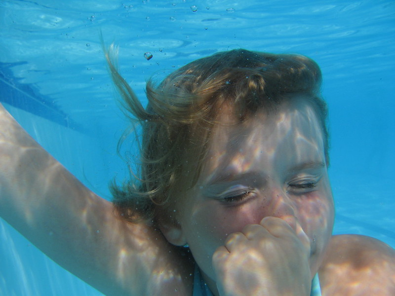 Underwater portrait