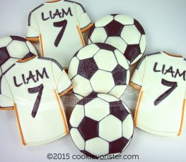 Soccer themed cookies