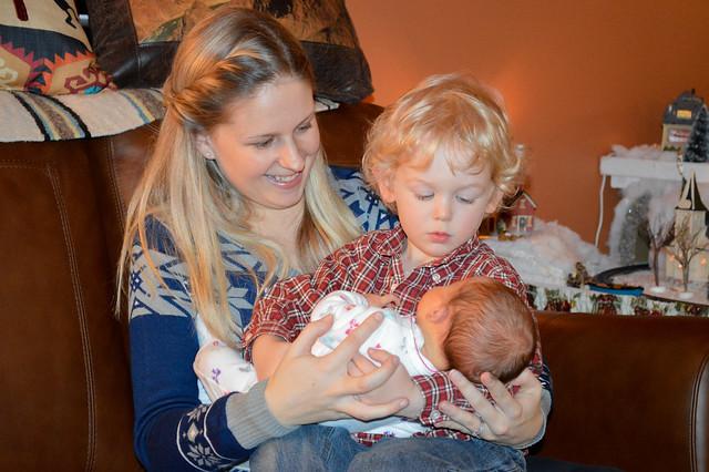 Baby Julia and Nate