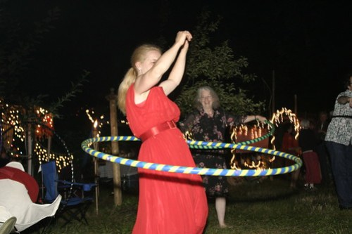 The hooping went on into the night!
