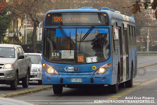 Transantiago - Inversiones Alsacia - Marcopolo Gran Viale / Volvo (FLXK19)