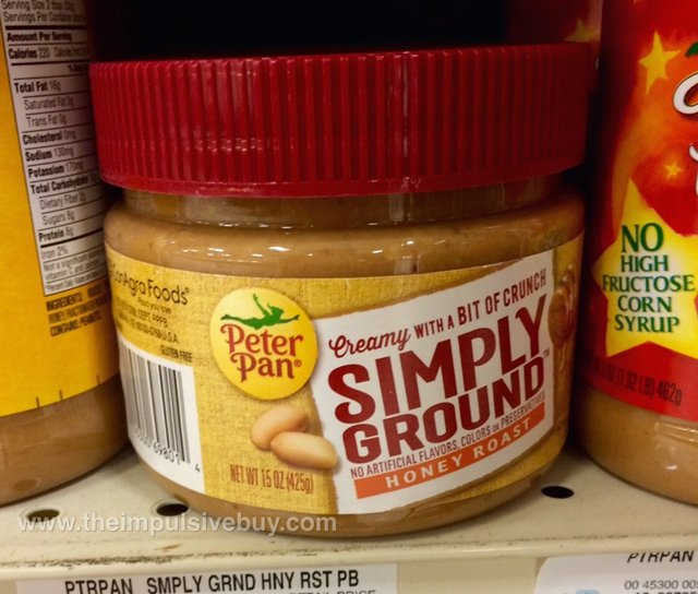 Peter Pan Honey Roast Simply Ground Peanut Butter