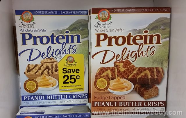 Sunbelt Bakery Protein Delights (Peanut Butter Crisps and Fudge Dipped Peanut Butter Crisps)