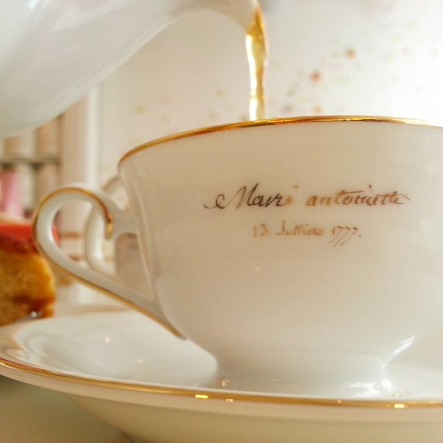 Tea shop Nina's beckoned to us. So we stopped in for Marie Antoinette cake and #tea! #Paris