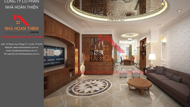Bản vẽ 3D nội thất Phòng Khách - Trệt căn L2.8 dự án CityLand Garden Hills - Gò Vấp
