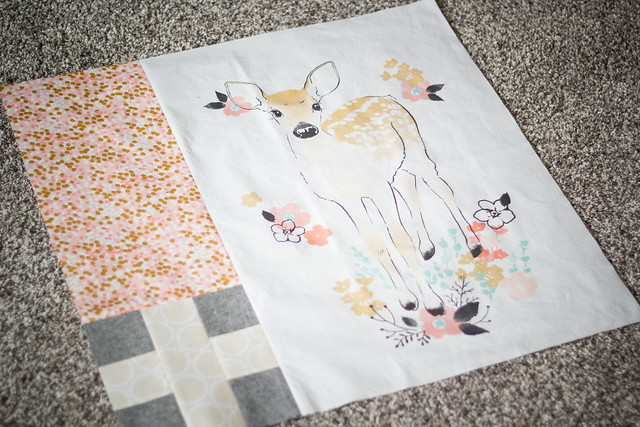 Fawn baby quilt beginnings