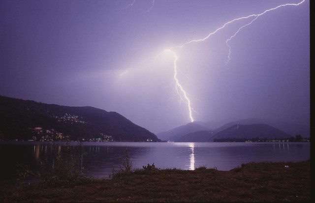 Lightning at Lago di Lugano