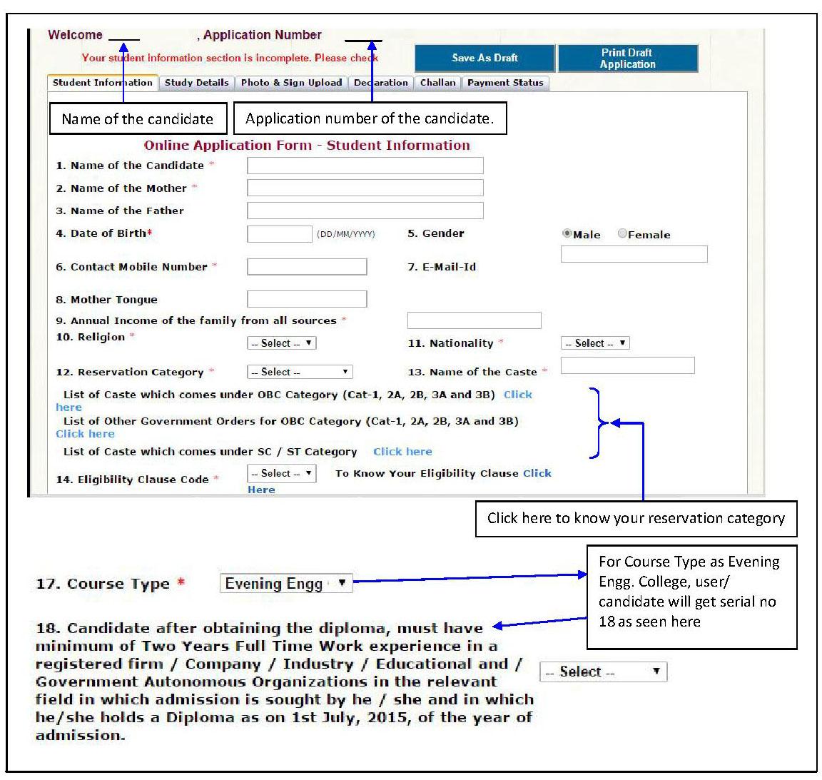 Karnataka Diploma Cet Online Application Form