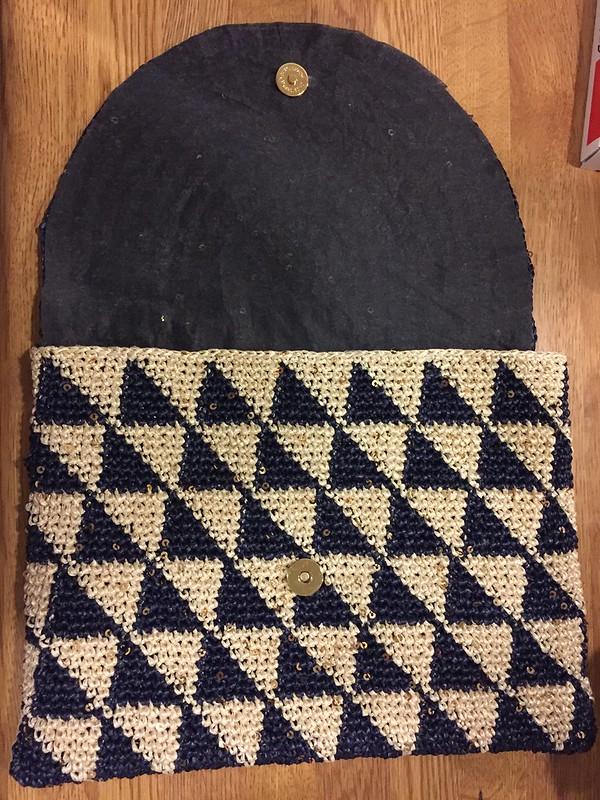 Triangle Clutch bag - Finished…?