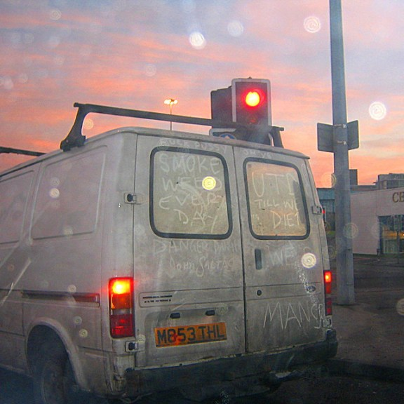 Dirty white van