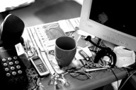 Messy desk: evidence of the indomitable creativity of your soul